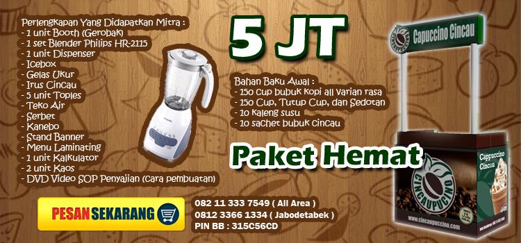 Paket Hemat Cincaupuccino - Pemesanan 08211 333 7549