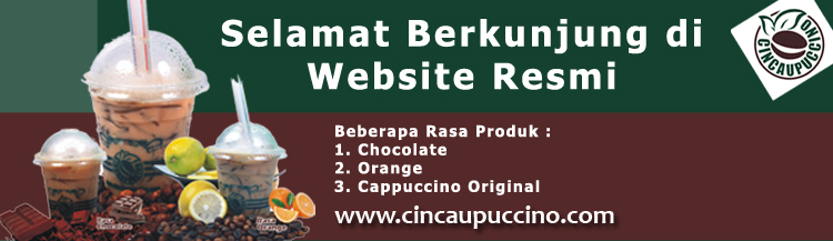 desain welcome website cincaupuccino