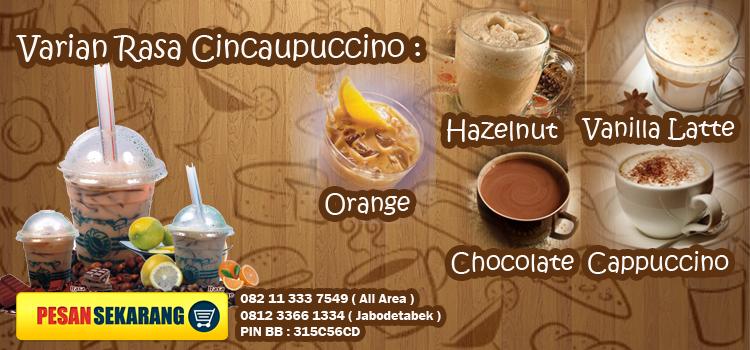 menu cincaupuccino - pemesanan 08211 333 7549